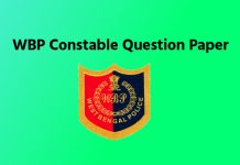 WBP Constable Previous Year Questions Paper Download