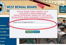 WB Primary TET Result 2021