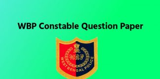 WBP Constable Previous Year Questions Paper PDF