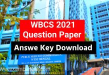 WBCS 2021 Question Paper Download