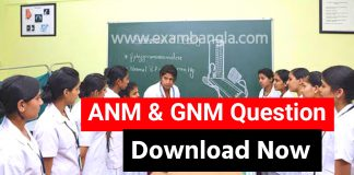 ANM & GNM 2021 Question Paper Download
